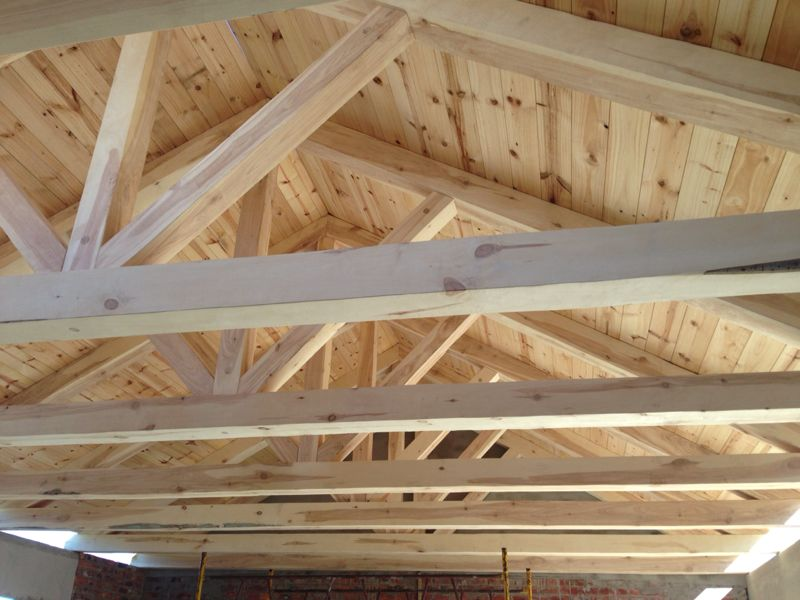 Working closely with architects to create structural for Exposed roof trusses images