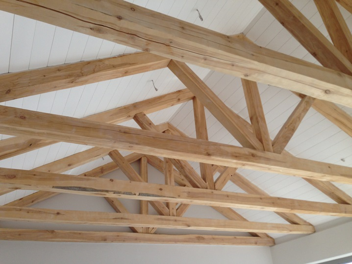 Exposed trusses and ceilings thatchscapes for Vaulted ceiling with exposed trusses
